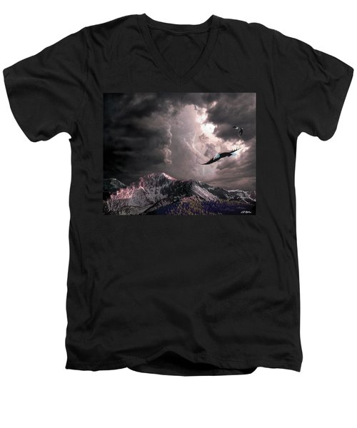 On Wings Of Eagles Men's V-Neck T-Shirt by Bill Stephens