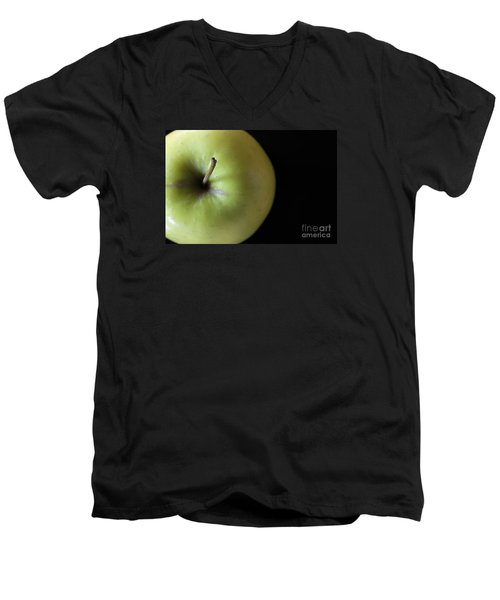 One Apple - Still Life Men's V-Neck T-Shirt by Wendy Wilton