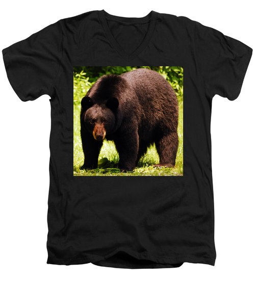 One Big Bad Momma Men's V-Neck T-Shirt by Lori Tambakis