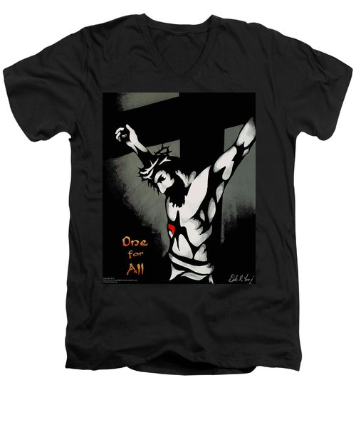 One For All Men's V-Neck T-Shirt