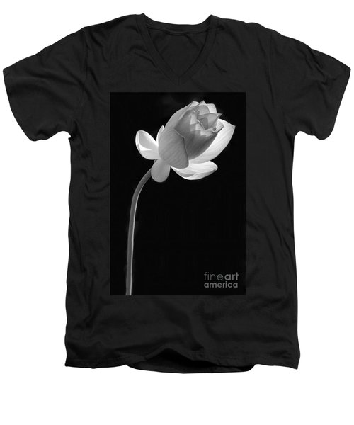 One Lotus Bud Men's V-Neck T-Shirt