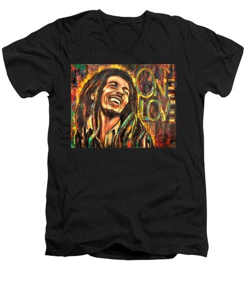 Bob Marley - One Love Men's V-Neck T-Shirt