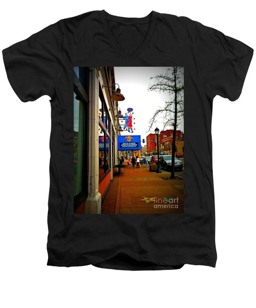 One Of Ten Great Streets Men's V-Neck T-Shirt by Kelly Awad