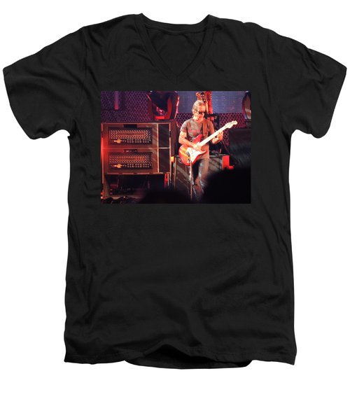Men's V-Neck T-Shirt featuring the photograph One Of The Greatest Guitar Player Ever by Aaron Martens