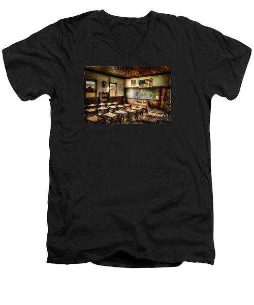 One Room School Men's V-Neck T-Shirt by Lois Bryan