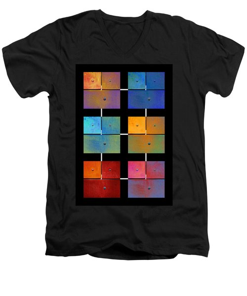 One To Eighteen - Colorful Rust - All Colors Men's V-Neck T-Shirt
