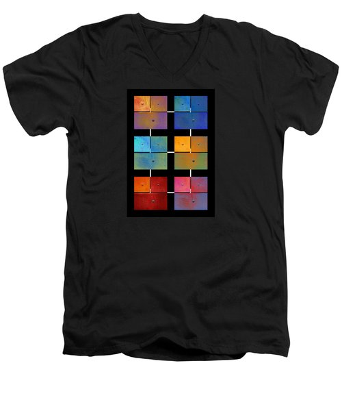 One To Eighteen - Colorful Rust - All Colors Men's V-Neck T-Shirt by Menega Sabidussi