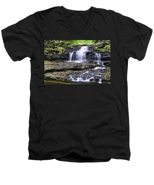 Onondaga Falls Men's V-Neck T-Shirt