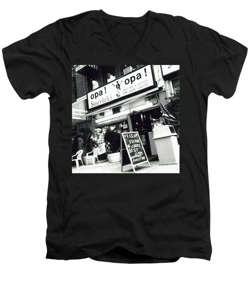 Men's V-Neck T-Shirt featuring the photograph Opa Opa by James Aiken
