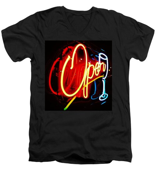 Men's V-Neck T-Shirt featuring the photograph Open by Daniel Thompson