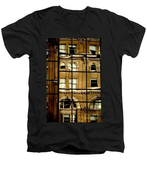 Men's V-Neck T-Shirt featuring the photograph Open Windows by Christiane Hellner-OBrien