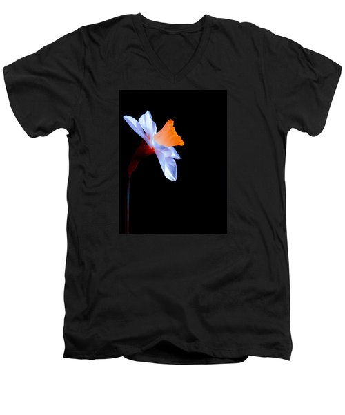 Men's V-Neck T-Shirt featuring the photograph Opening To The Light by Julia Wilcox