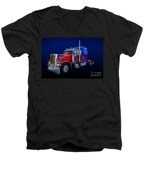 Optimus Prime Blue Men's V-Neck T-Shirt