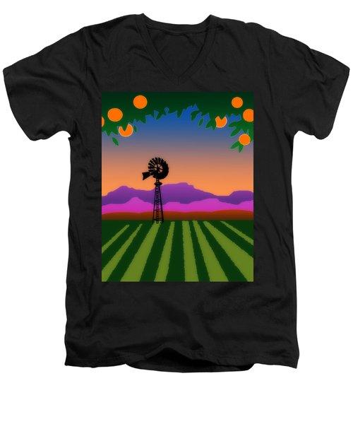 Orange County Men's V-Neck T-Shirt