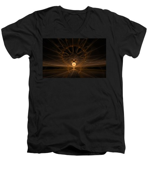 Men's V-Neck T-Shirt featuring the digital art Orb by GJ Blackman
