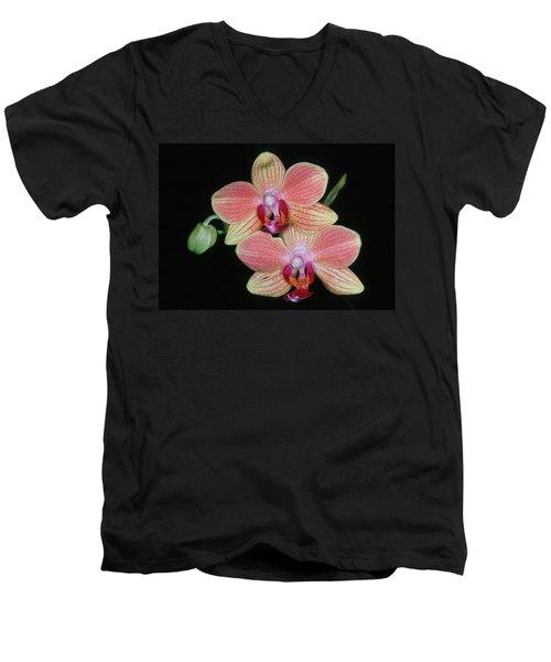 Orchid 4 Men's V-Neck T-Shirt by Andy Shomock
