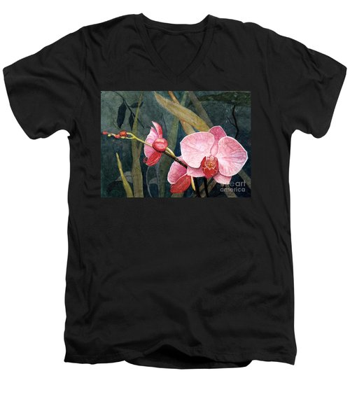 Orchid Trio Men's V-Neck T-Shirt