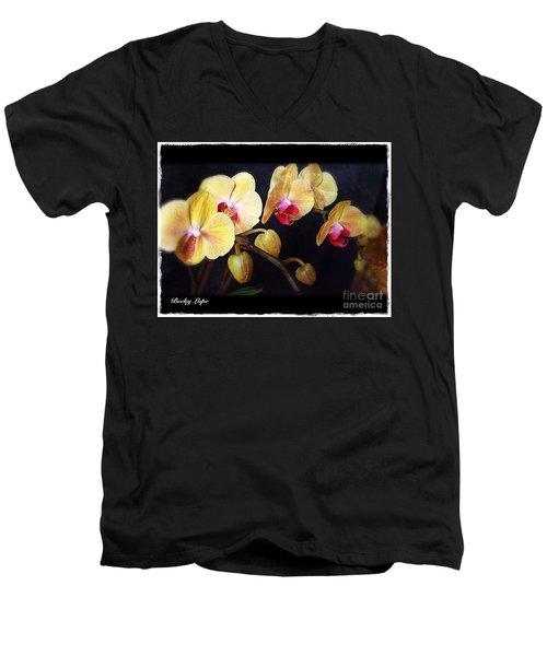 Orchids Arise Men's V-Neck T-Shirt