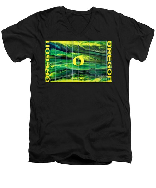 Oregon Football Men's V-Neck T-Shirt
