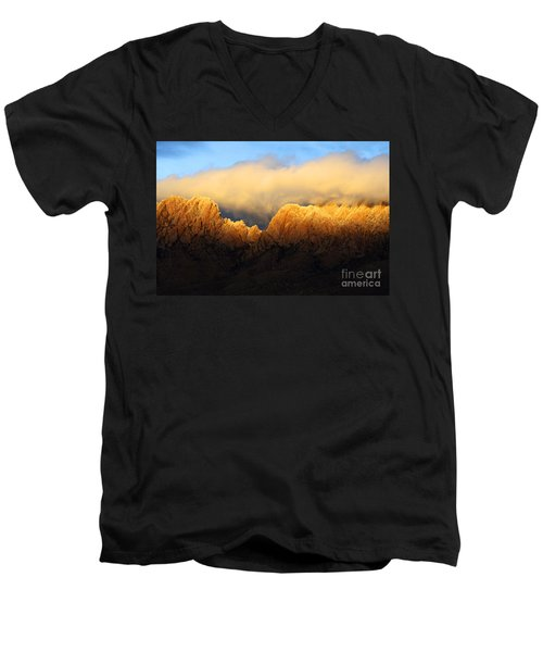 Organ Mountains Symphony Of Light Men's V-Neck T-Shirt