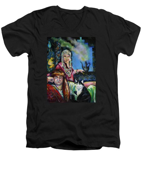 Oriental Fairy Tale. First Part Men's V-Neck T-Shirt by Anna  Duyunova