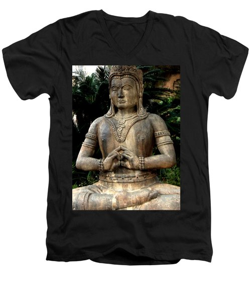 Oriental Statue Men's V-Neck T-Shirt