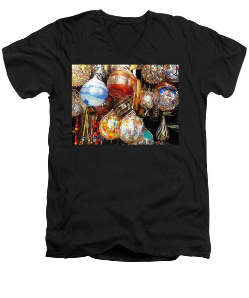 Men's V-Neck T-Shirt featuring the photograph Ornate by Natalie Ortiz