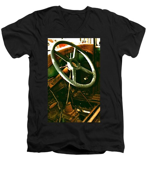 Men's V-Neck T-Shirt featuring the photograph Our New Car by Don Wright