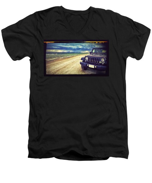 Out For A Play Men's V-Neck T-Shirt