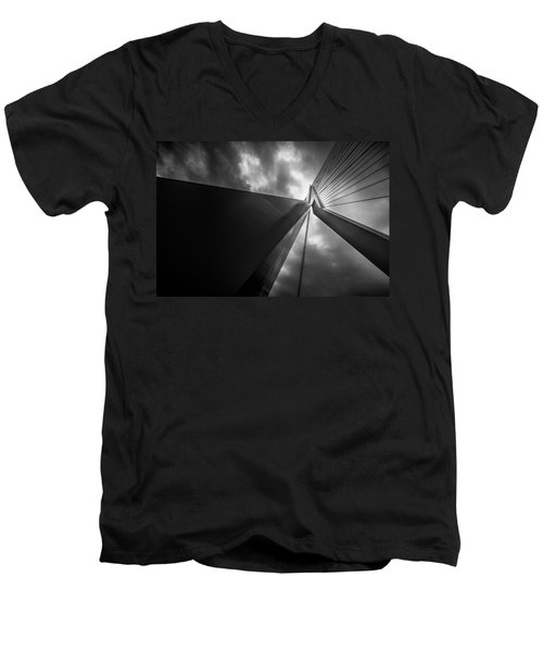 Men's V-Neck T-Shirt featuring the photograph Out Of Chaos A New Order by Mihai Andritoiu