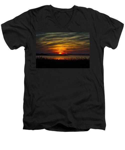 Outer Banks Sunset Men's V-Neck T-Shirt