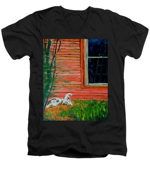 Outside The Artist's Studio Men's V-Neck T-Shirt