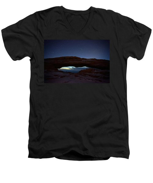 Men's V-Neck T-Shirt featuring the photograph Over The Arch by David Andersen