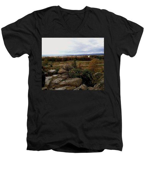 Over The Battle Field Of Gettysburg Men's V-Neck T-Shirt by Amazing Photographs AKA Christian Wilson