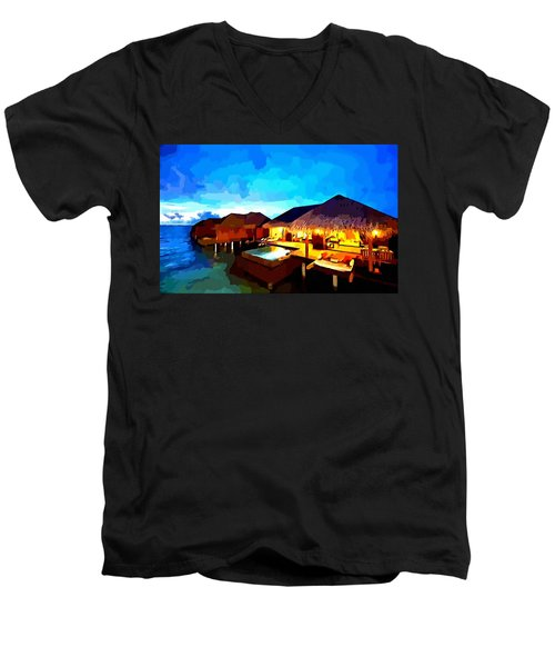 Over Water Bungalows Men's V-Neck T-Shirt