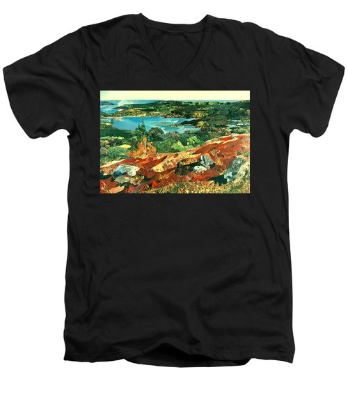 Overlooking The Bay Men's V-Neck T-Shirt by Robin Birrell