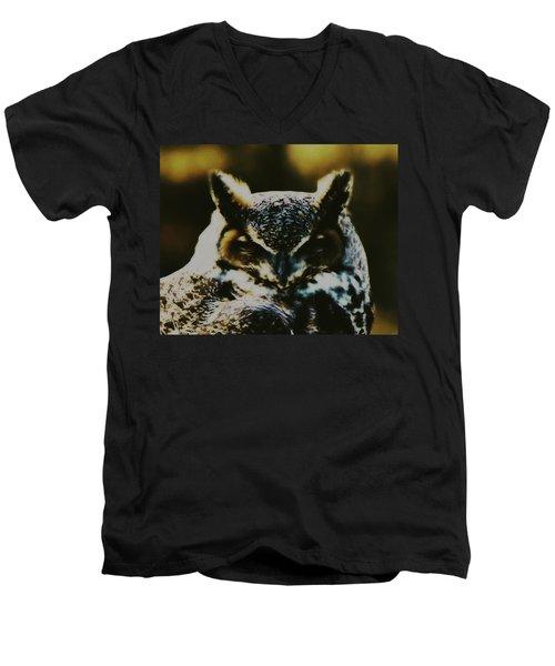 Owl Portrait Men's V-Neck T-Shirt