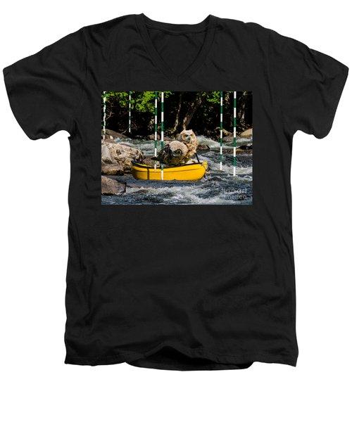 Owlets In A Canoe Men's V-Neck T-Shirt