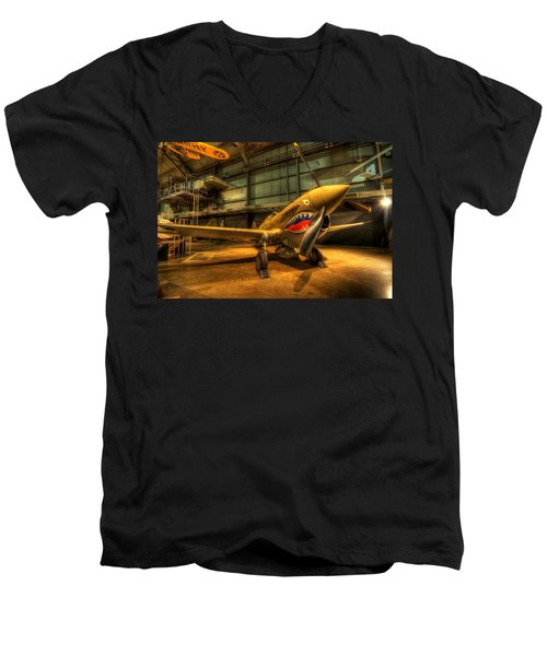 P-40 Warhawk  Men's V-Neck T-Shirt