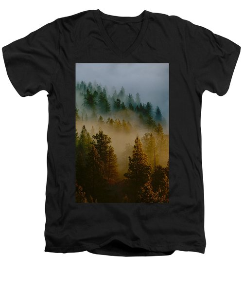 Pacific Northwest Morning Mist Men's V-Neck T-Shirt