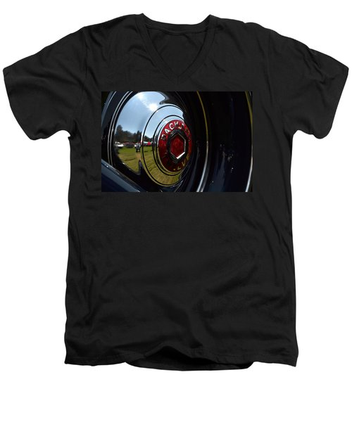 Men's V-Neck T-Shirt featuring the photograph Packard - 2 by Dean Ferreira