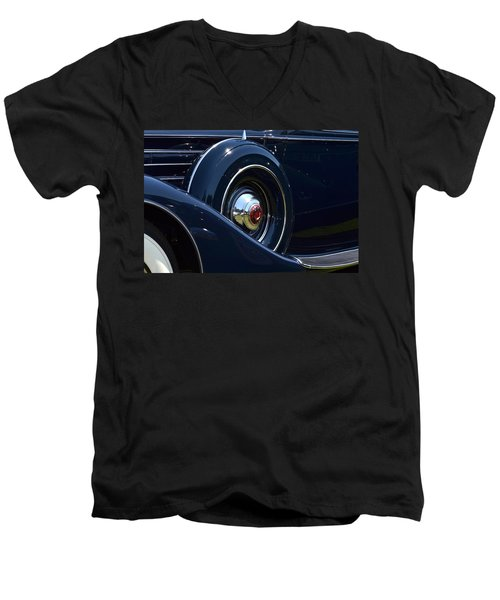 Men's V-Neck T-Shirt featuring the photograph Packard - 1 by Dean Ferreira