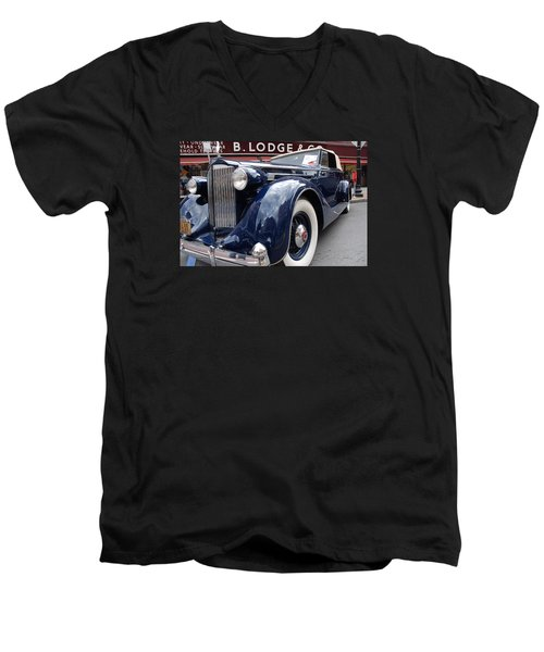 Men's V-Neck T-Shirt featuring the photograph Packard 1207 Convertible 1935 by John Schneider