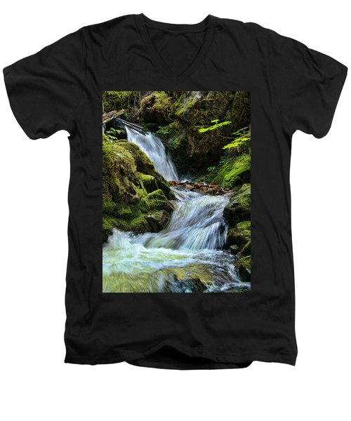 Packer Falls Vert 1 Men's V-Neck T-Shirt