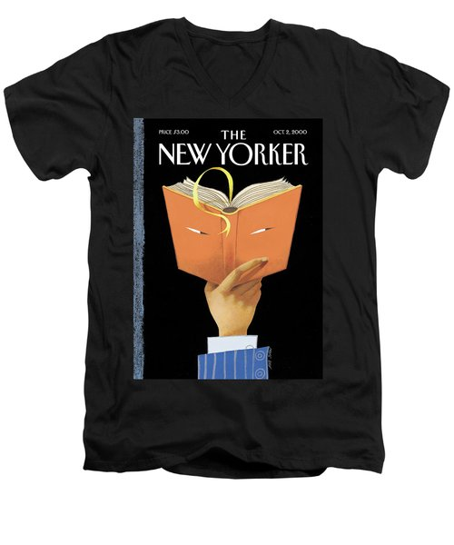 Page-turner Men's V-Neck T-Shirt