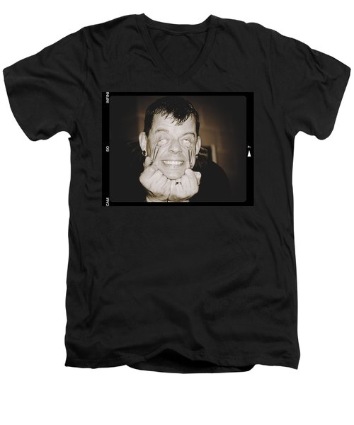 Men's V-Neck T-Shirt featuring the photograph Painful by Alice Gipson