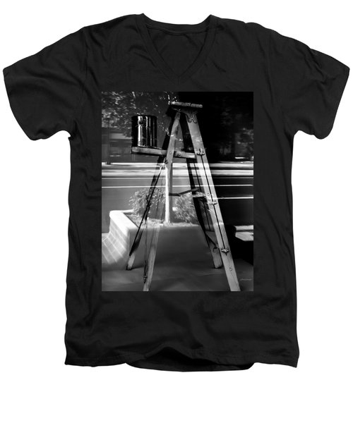 Painted Illusions - Abstract Men's V-Neck T-Shirt by Steven Milner