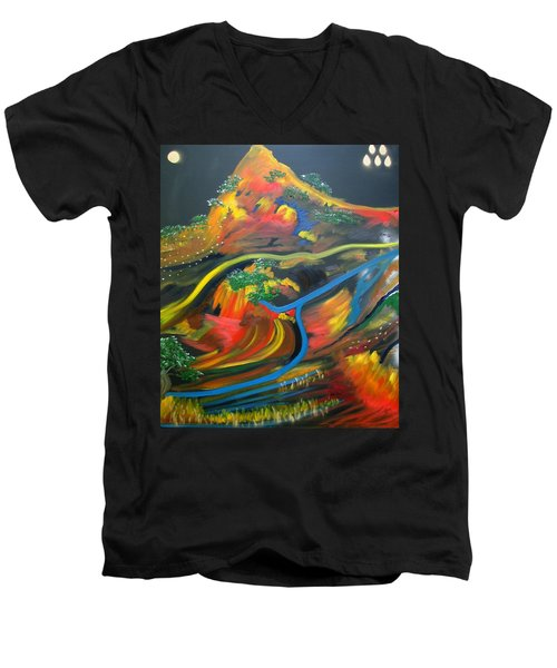 Painted Landscape Men's V-Neck T-Shirt