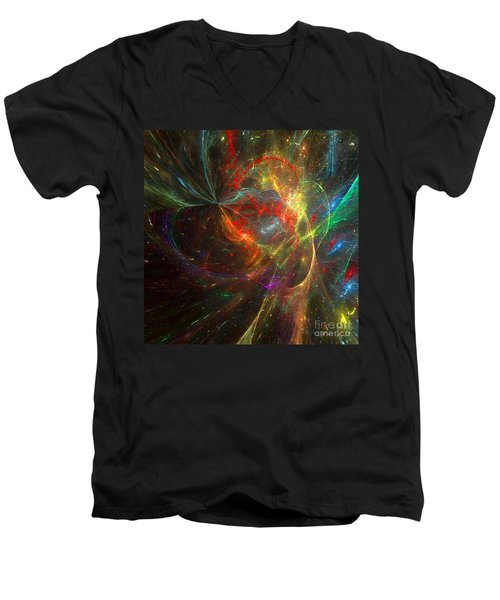 Painting The Heavens  Men's V-Neck T-Shirt by Margie Chapman