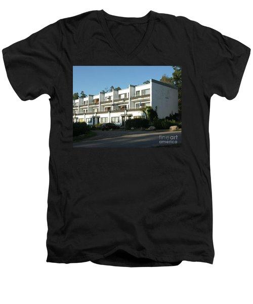 Paivola Building In Sunila Men's V-Neck T-Shirt